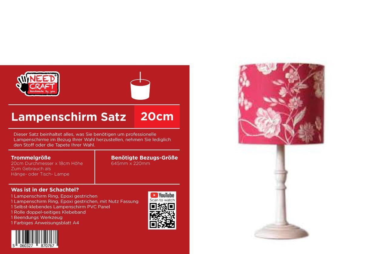 20cm Trommel Lampenschirm Kit