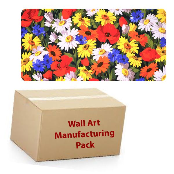 25cm x 50cm Rectangle - Textile Wall Art Kit - Manufacturing Pack - 30 units