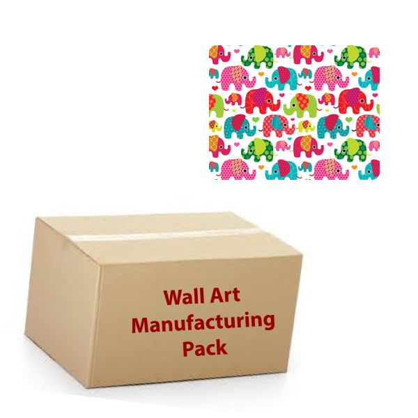 30cm Square - Textile Wall Art Kit - Manufacturing Packs