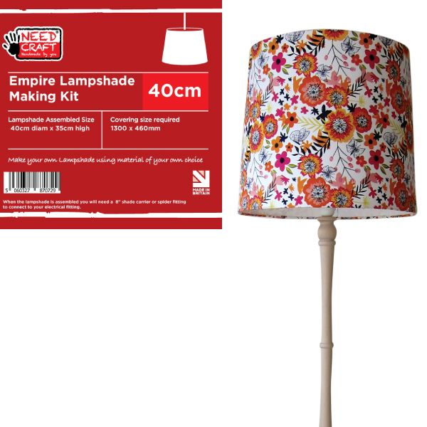 Lampshade Making Kit Coolie 30cm Pendant, Design Your Own Lampshade Kit