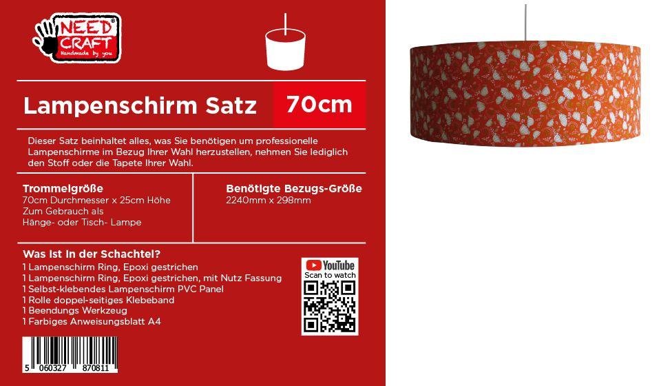 70cm Trommel Lampenschirm Kit