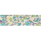 Cotton Bias Binding - 20mm - Ditsy Print Turq/Cream- 25mtrs