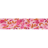 Cotton Bias Binding - 20mm - Floral Print Pink/Orange- 25mtrs