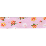 Cotton Bias Binding - 20mm - Floral Print Pink/Orange/White- 25mtrs