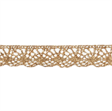 Decorative Metallic Lace Trim - Gold-   20mm Width - 25mtrs