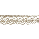 Decorative Metallic Lace Trim - Light Gold - 20mm width - 25mtrs