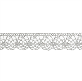 Decorative Metallic Lace Trim - Silver- 20mm width - 25mtrs