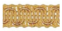 Gimp (Braided trim) 15mm  -  Gold - ET509\0103 Value Pack 25 mtrs