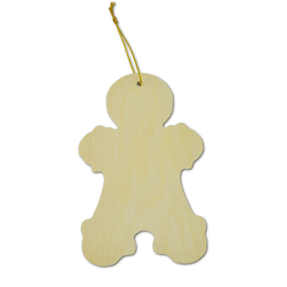 Gingerbread Man Wooden Decoration 35042