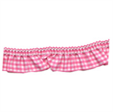Gingham Trim- 25mm - Dark Pink -12.5mtrs