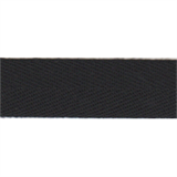 Herringbone Tape - 20mm - Black - 50mtrs