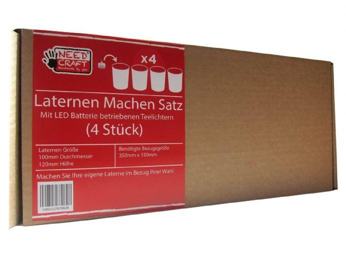 lantern making satz 4 st ck mit batterie teelichter. Black Bedroom Furniture Sets. Home Design Ideas