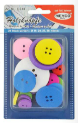 Mixed Buttons x 20 - (Item No: 132-84)