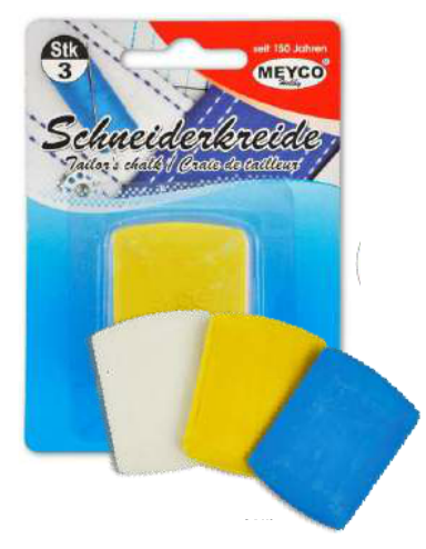 Tailor's Chalk x 3 - White, Yellow, Blue (Item No: 14287)