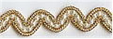 Wavy Beaded Trim Gold 12mm x 10mtrs
