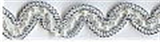 Wavy Beaded Trim Silver 12mm x 10mtrs