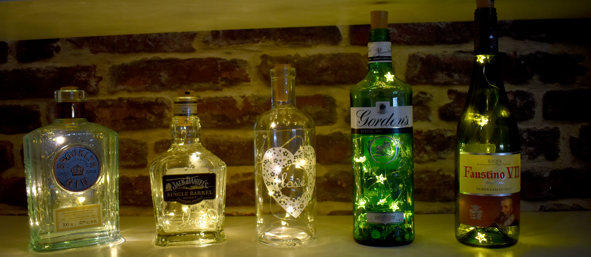 Transform and recycle your bottles into beautiful lighting features with our low-cost LED lights.