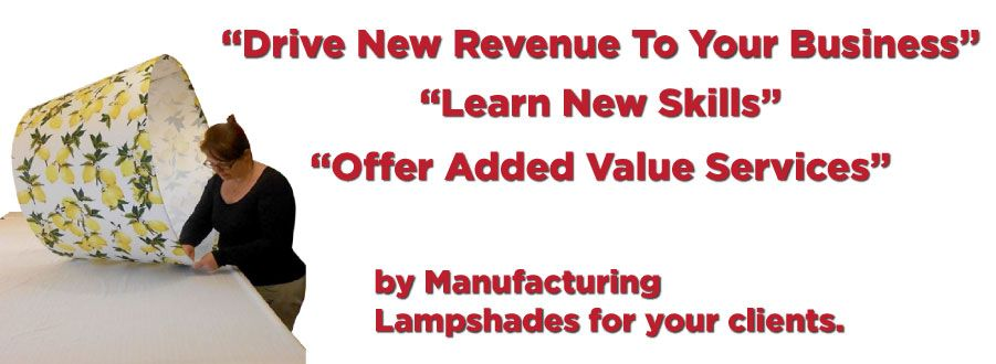 As a curtain and blind maker, it is now incredibly easy to make matching lampshades. This is a superb and proven way to bring in new revenue to your business, learn new skills and offer new services to your clients.