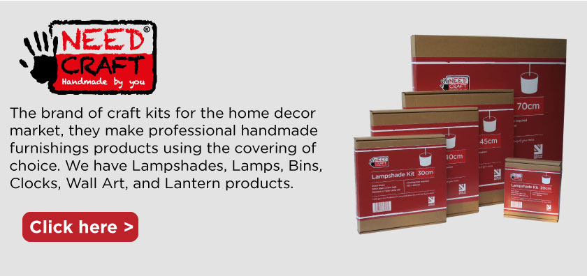 we supply needcraft kits  that make lampshades and many other products